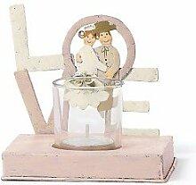 Jullar BIS 7819 Kerzenhalter, Brautpaar Love, klein