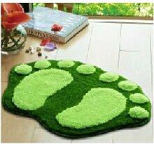 JuLun 1 PC Big Foot Print Massagematte, Kinder Matten Bad Rutschfeste Dusche Teppich (green)