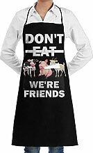 July flower Vegan Do Not Eat Cow Aprons Kitchen