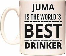 JUMA IS THE WORLD'S BEST DRINKER Becher von