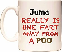Juma REALLY IS ONE FART AWAY FROM A POO Becher von