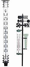Jumbo-Gartenthermometer aus Metall Höhe 115cm, Kopf und Fuss