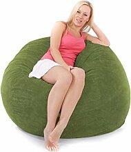 Jumbo-Schnur-Schaum Sitzsack Mit Doppelmatratze Innen Olivgrün