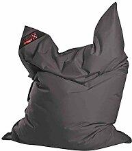 Jumbo-Sitzsack, Sitzsack, Sitzkissen, Bodenkissen, Relaxkissen, Relaxsack, Sitting Bag, Kindersitzsack, Anthrazit, Grau, Maße: B/H ca. 130/170 cm