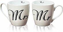 Jumbobecher Mr&Mrs 2s H10cm Material: Porzellan