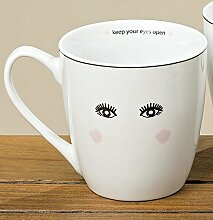 Jumbotasse Porzellan Augen offen Jumbobecher 400ml