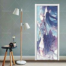 JuMei Door sticker Hd Tür Aufkleber Vinyl Anime