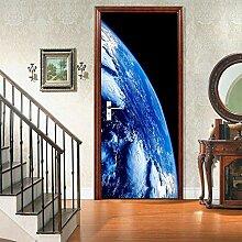 JuMei Door sticker Hd Tür Aufkleber Vinyl Blauer