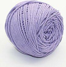Jun 3mm helles lila Macrame Cord, bunt, natürliche Baumwolle Macrame Wand Aufhängung Pflanze Aufhänger Basteln Stricken Seil, Gesamt 109YD