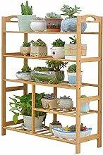 JUN-Blumenregal Dekorativer Blumenständer Bambus