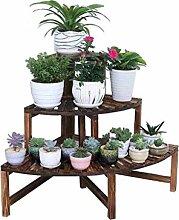 JUN-Blumentreppen 3 Tier Ladder Flower Racks Holz