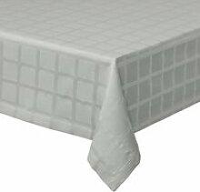 Juna - Brick Damast Tischdecke, 150 x 220 cm, grau