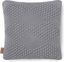 Juna - Diamond Kissen 45 x 45 cm, grau