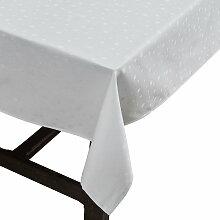 Juna - Dot Tischdecke 140 x 220 cm, weiß