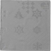 Juna - Natale Stoffservietten, 45 x 45 cm, grau