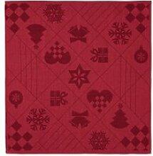 Juna - Natale Stoffservietten, 45 x 45 cm, rot