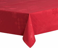 Juna - Natale Tischdecke 150 x 220 cm, rot