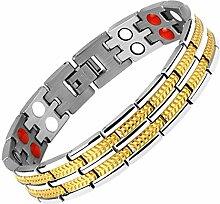 JunBo Magnetische Schwarz Edelstahl Magnet Armband