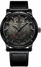 JunBo Uhr, Herrenuhr Mit Geprägtem Zifferblatt,