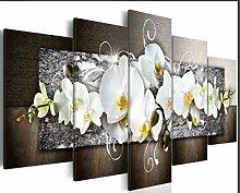 JunBo Wandaufkleber, abstrakte Orchidee Muster 5