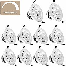 JuneJour 3W LED Deckenleuchte Downlight, 1/10