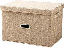 Junejour Aufbewahrungsbox mit Deckel, Faltbox