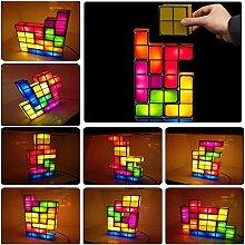 JuneJour Tetris Lampe Stapelbare LED Tischleuchte