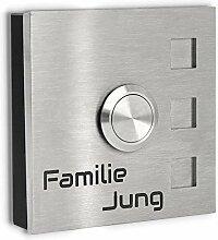 Jung-Edelstahl-Design Aufputz Türklingel Köln