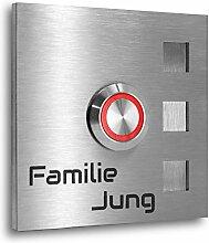 Jung Edelstahl Design Türklingel Edelstahl 7 X 7
