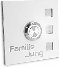 Jung-Edelstahl-Design Türklingel mit Gravur Köln