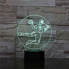 Junge 3D Led Nachtlicht Handball Player Action