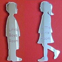 Junge & Mädchen Spiegel 12cm jeweils – gravier
