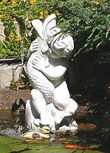 Junge mit Fisch (S170) Wasserspiel Gartenfiguren