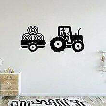 Junge Traktor Wand Vinyl Aufkleber Junge