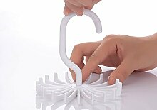 JUNGEN 1 Stück 360° Drehbaren Krawattenhalter Krawattenbügel Gürtelhalter Gürtelbügel