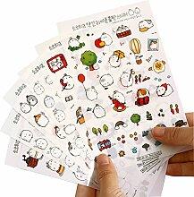 JUNGEN 6 Blatt Tagebuch Sticker Fotoalbum Sticker