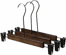 JUNGEN Holz Kleiderbügel mit Clips Hosenbügel Kleiderbügel 33 CM 5-Pack