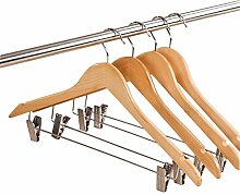 JUNGEN Hosen Kleiderbügel trocknen Kleiderständer mit Klammer 45 * 22.5 * 1.2 CM 10 Stück