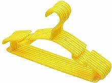 JUNGEN Kinderkleiderbügel Kleiderbügel Kunststoff mit Rutschfeste 10-Pack (Gelb)