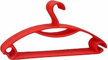 JUNGEN Kunststoff Kleiderbügel mit Hose Haken 10-Pack (Rote)