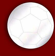 JUNGEN SCHLAFZIMMER DEKORATION- FUßBALL FUSSBALL 20cm Acryl Sicherheit Spiegel