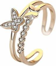 JUNGEN Schmetterlinge Ringe Verstellbar Ring Gold