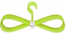 JUNGEN Standard Kleiderbügel Kunststoff perfekt für Stoff Hose Schal Tie Dress 5-Pack (Grün )
