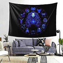 Jungfrau Hippie Neon Horoskop Kreis Sternzeichen
