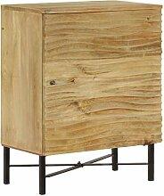 junhaofu Sideboard Massiv Mangoholz 60 x 35 x 75