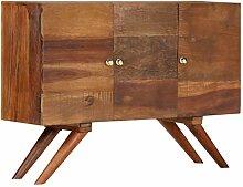 junhaofu Sideboard Recyceltes Massivholz Braun 110