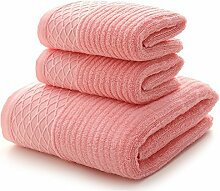JUNHONGZHANG 3 Stück 100% Baumwolle Handtuch Set