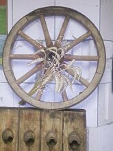 JUNIT Wagenrad mit Durchmesser ca. 60cm. Eichenholz gebrauch