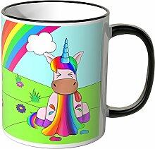 JUNIWORDS Tasse - Wähle eine Farbe -Einhorn kotzt