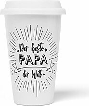 JUNIWORDS To-Go Becher mit Deckel, Der beste Papa